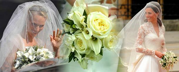 Os Bouquets das princesas no dia do casamento!